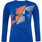Under Armour Little Boys' Slash Logo Graphic Long Sleeve Shirt