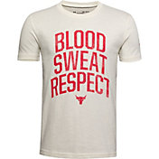 Under Armour Boys' Project Rock Blood Sweat Respect Graphic T-Shirt