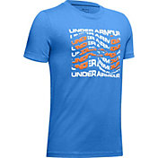 Under Armour Boys' Warped Big Logo T-Shirt
