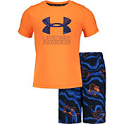Under Armour Boys' Sport Fish Volley T-Shirt and Board Shorts 2-Piece Set