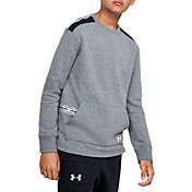 Under Armour Boy's Sportstyle Fleece Crewneck Sweatshirt