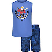 Under Armour Little Boys' USA Tank Top and Shorts Set