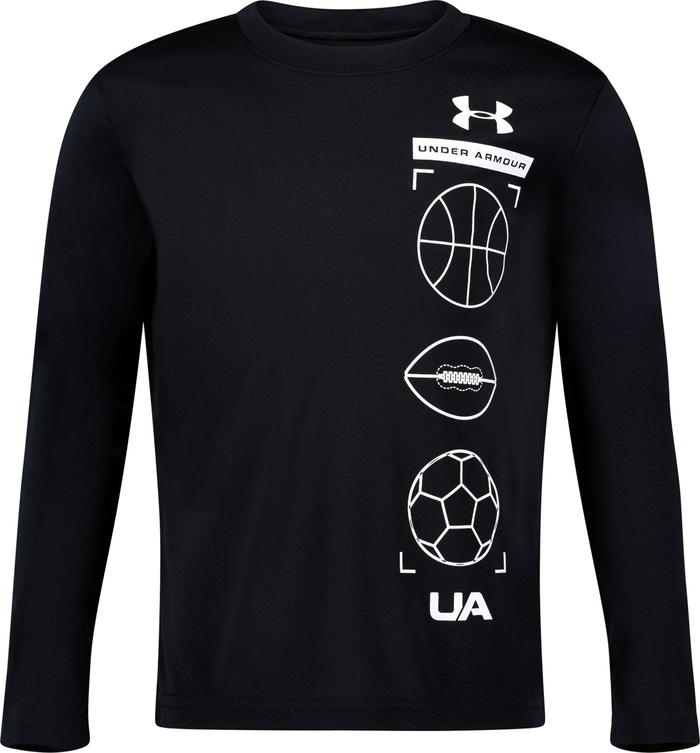 Under Armour Little Boys' Stacked Graphic Long Sleeve Shirt