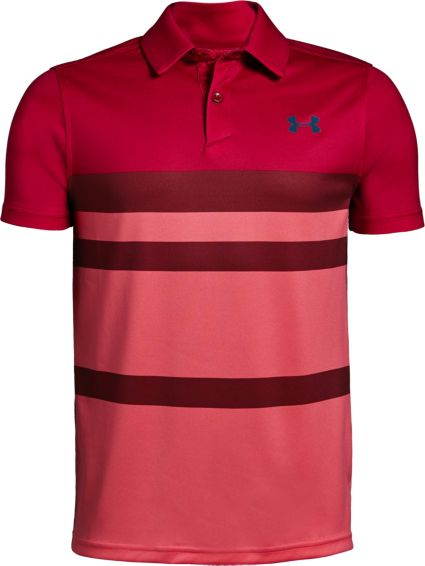 Under Armour Boys' Engineered Vanish Golf Polo