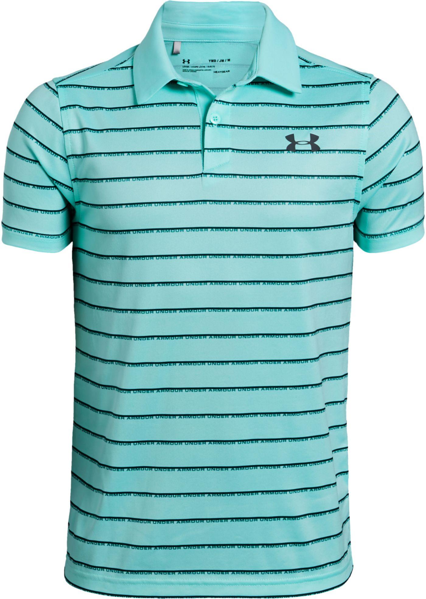 Under Armour Boys' Tour Tips Stripe Golf Polo