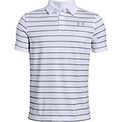 Under Armour Boys' Tour Tips Stripe Golf Polo