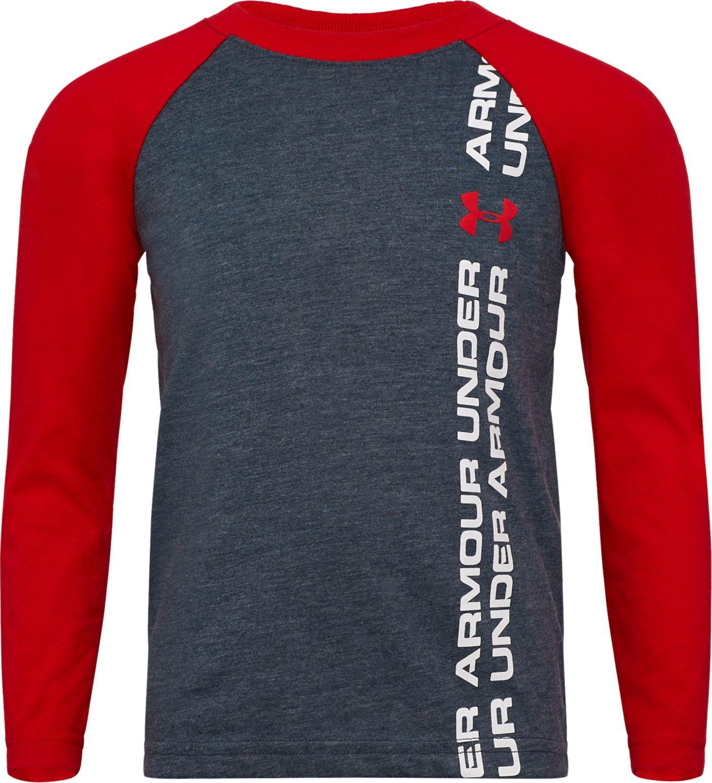 Under Armour Little Boys' Pixel Grid Big Logo Long Sleeve Shirt