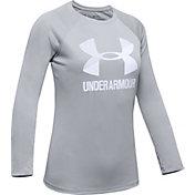 Under Armour Girl's Big Logo Long Sleeve Shirt