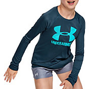 Under Armour Girl's Big Logo Long Sleeve Shirt
