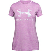 Under Armour Girls' Twist Big Logo Graphic T-Shirt