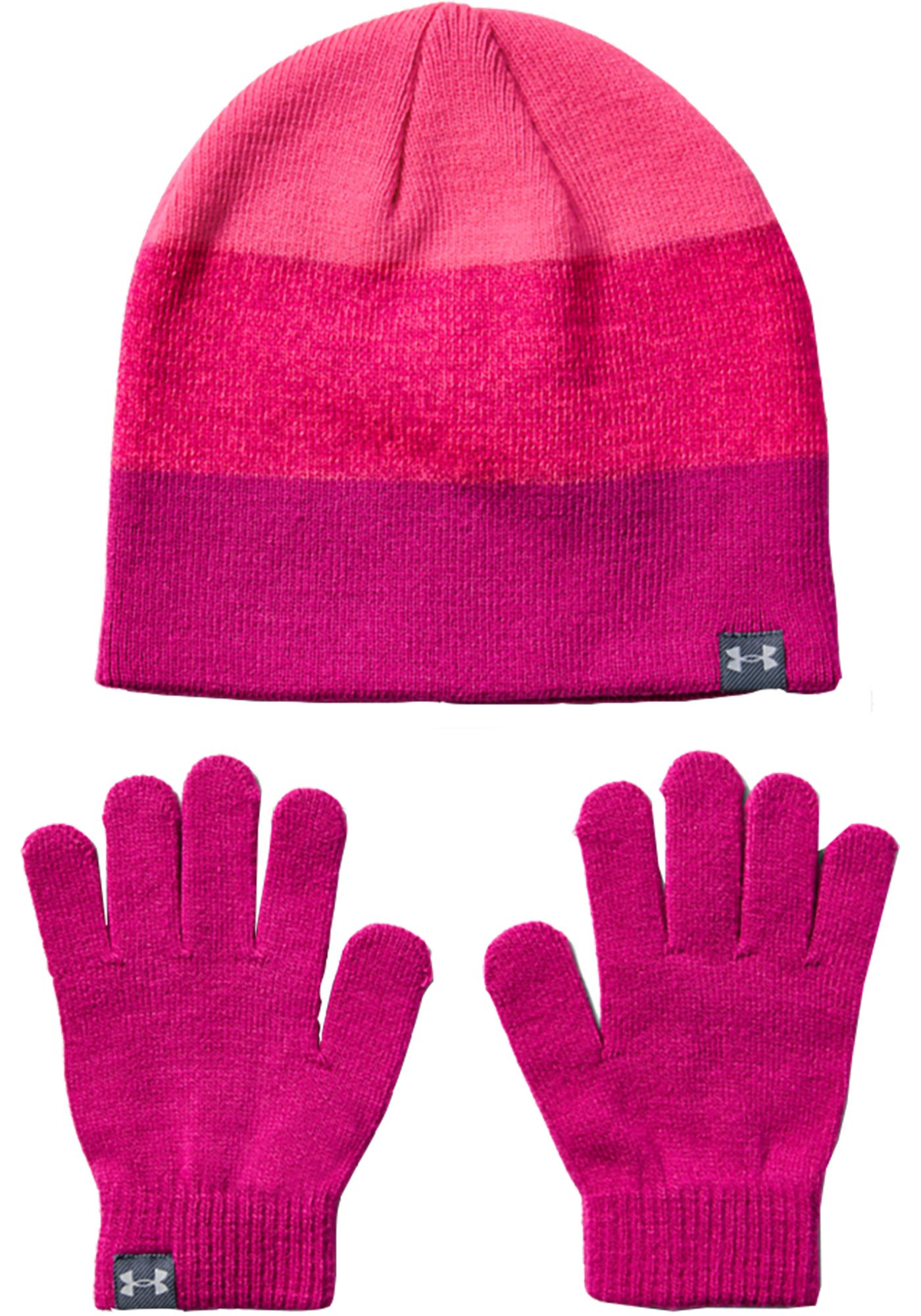 Under Armour Girl's Beanie and Glove Set