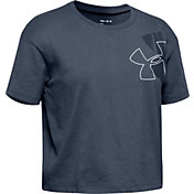 Under Armour Girl's Branded Logo Tilt T-Shirt