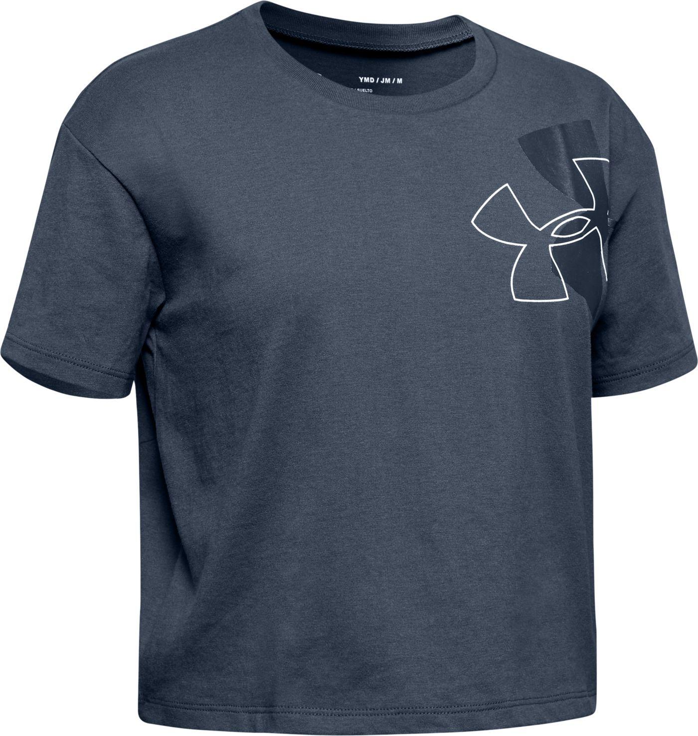 Under Armour Girl's Branded Logo Tilt T-Shirt