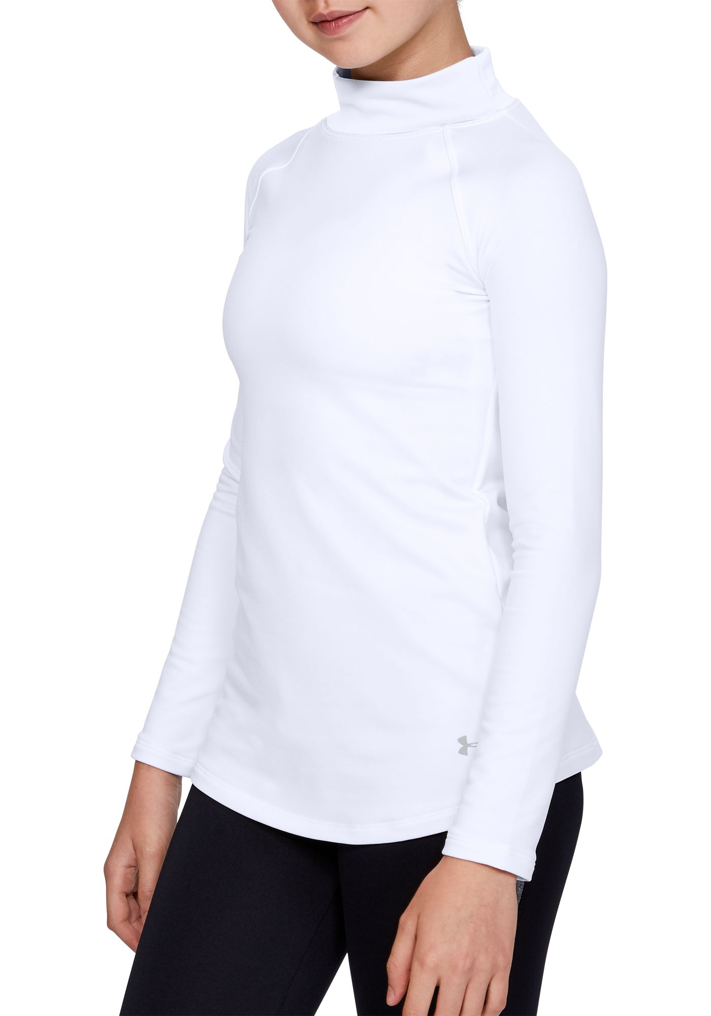 Under Armour Girl's ColdGear Mock Neck Shirt