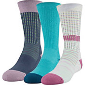 Under Armour Girl's Phenom Crew Socks - 3 Pack