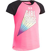 Under Armour Little Girls' Girl Boss Graphic Raglan T-Shirt