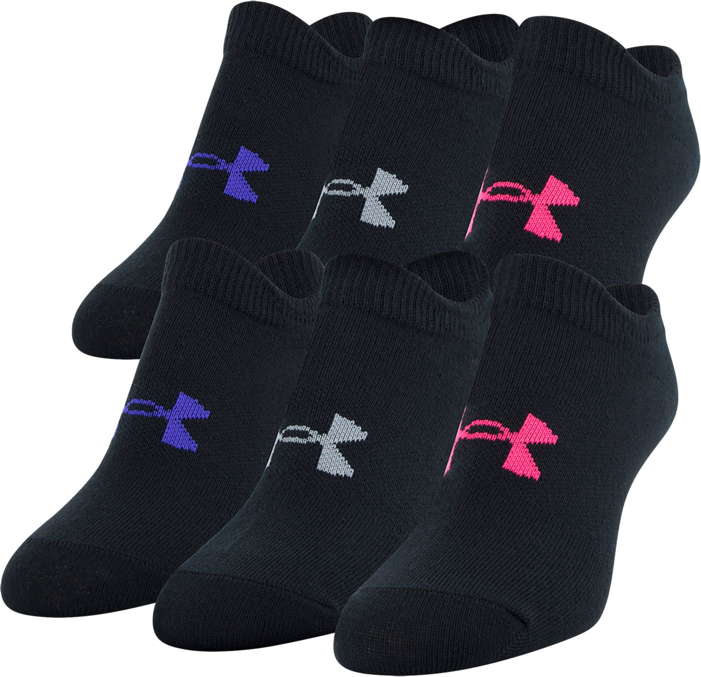 Under Armour Girl's Essential Socks 6-Pack