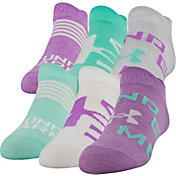 Under Armour Girl's Essential Socks - 6 Pack