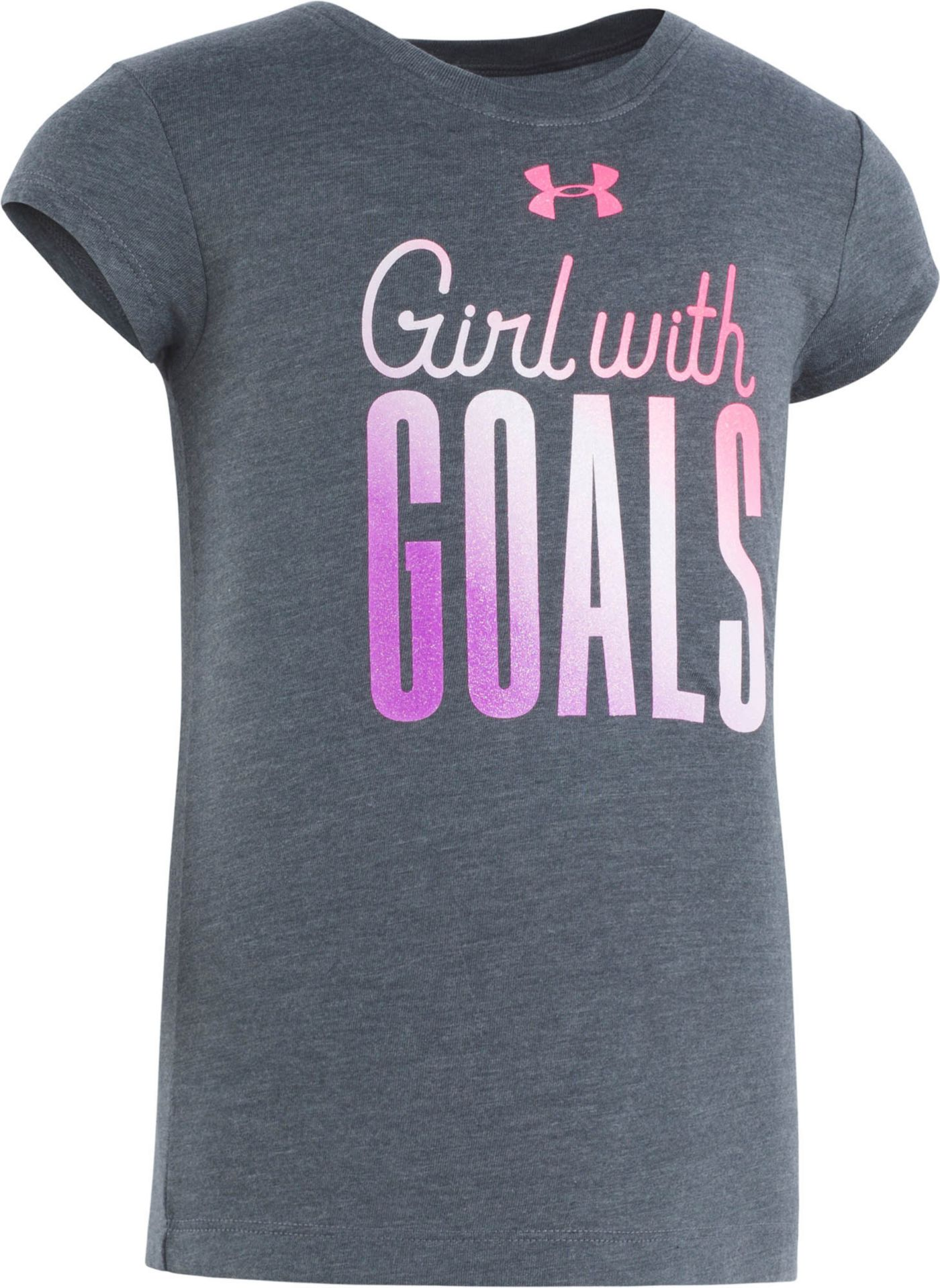 Under Armour Little Girls' Girls With Goals Graphic T-Shirt