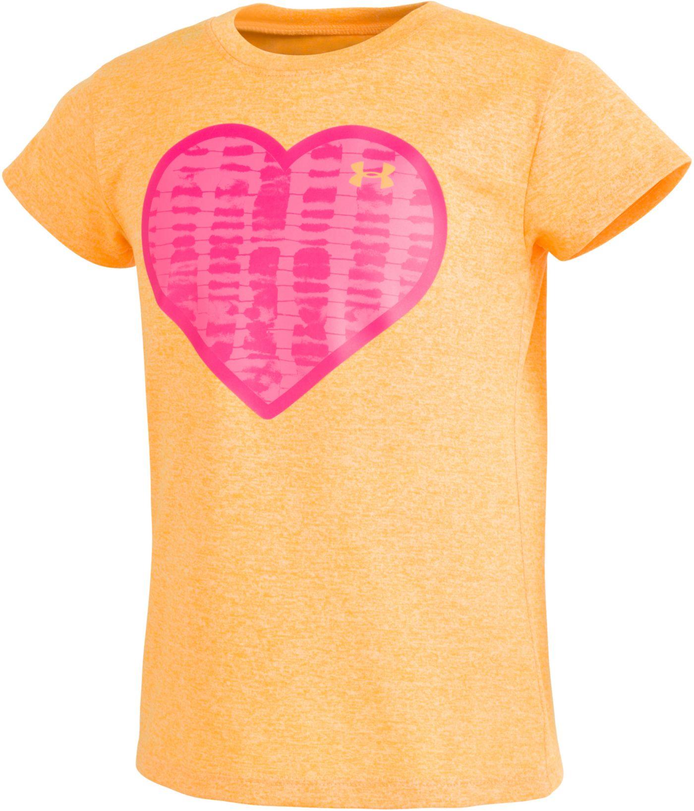 Under Armour Little Girls' Hazy Heart Graphic T-Shirt