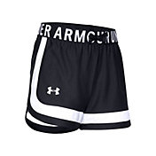 Under Armour Girls' Play Up Contrast Inset Shorts