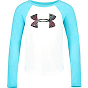 Under Armour Little Girls' Pixel Grid Big Logo Long Sleeve Shirt