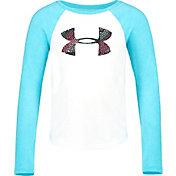Under Armour Little Girls' Pixel Grid Big Logo Long Sleeve Shirt