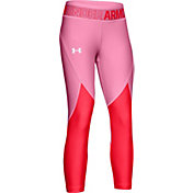 Under Armour Girls' Armour HeatGear Colorblocked Crop Pants
