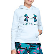 Under Armour Girl's Rival Print Logo Hoodie