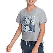 Under Armour Girl's Rival Print Fill Graphic T-Shirt