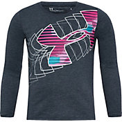 Under Armour Little Girls' Shades Logo Graphic Long Sleeve Shirt