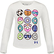 Under Armour Little Girls' Sporty Dozen Graphic Long Sleeve Shirt