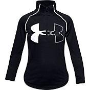 Under Armour Girls' Tech Graphic Big Logo ½ Zip Pullover