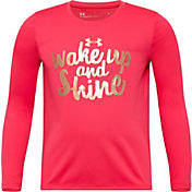 Under Armour Little Girls' Wake Up and Shine Long Sleeve Shirt
