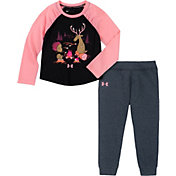 Under Armour Infant Girls' Camp Fire Friends T-Shirt and Pants Set