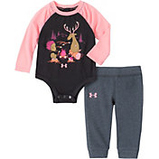 Under Armour Infant Girls' Camp Fire Friends Onesie and Pants Set