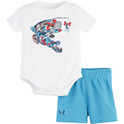 Under Armour Infant Boy's Fishing Equipment 2-Piece Onesie and Shorts Set
