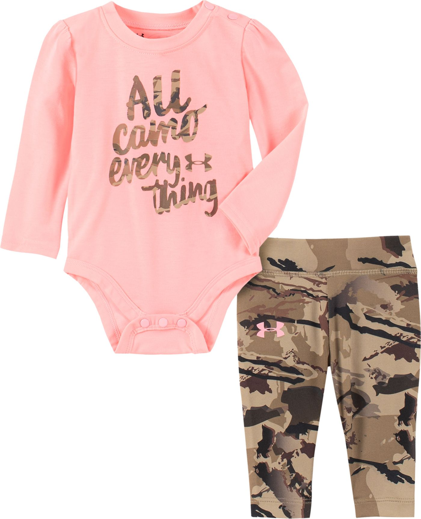 Under Armour Infant Girls' All Camo Everything Onesie and Pants Set