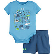 Under Armour  Infant Boy's Reel It In 2-Piece Onesie and Shorts Set
