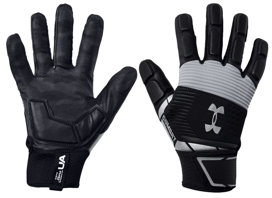 meer foto's goed uit x gezellig fris Under Armour Adult Combat Lineman Gloves 2019