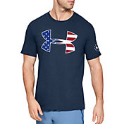 Under Armour Men's Freedom Big Logo Flag Fill T-Shirt