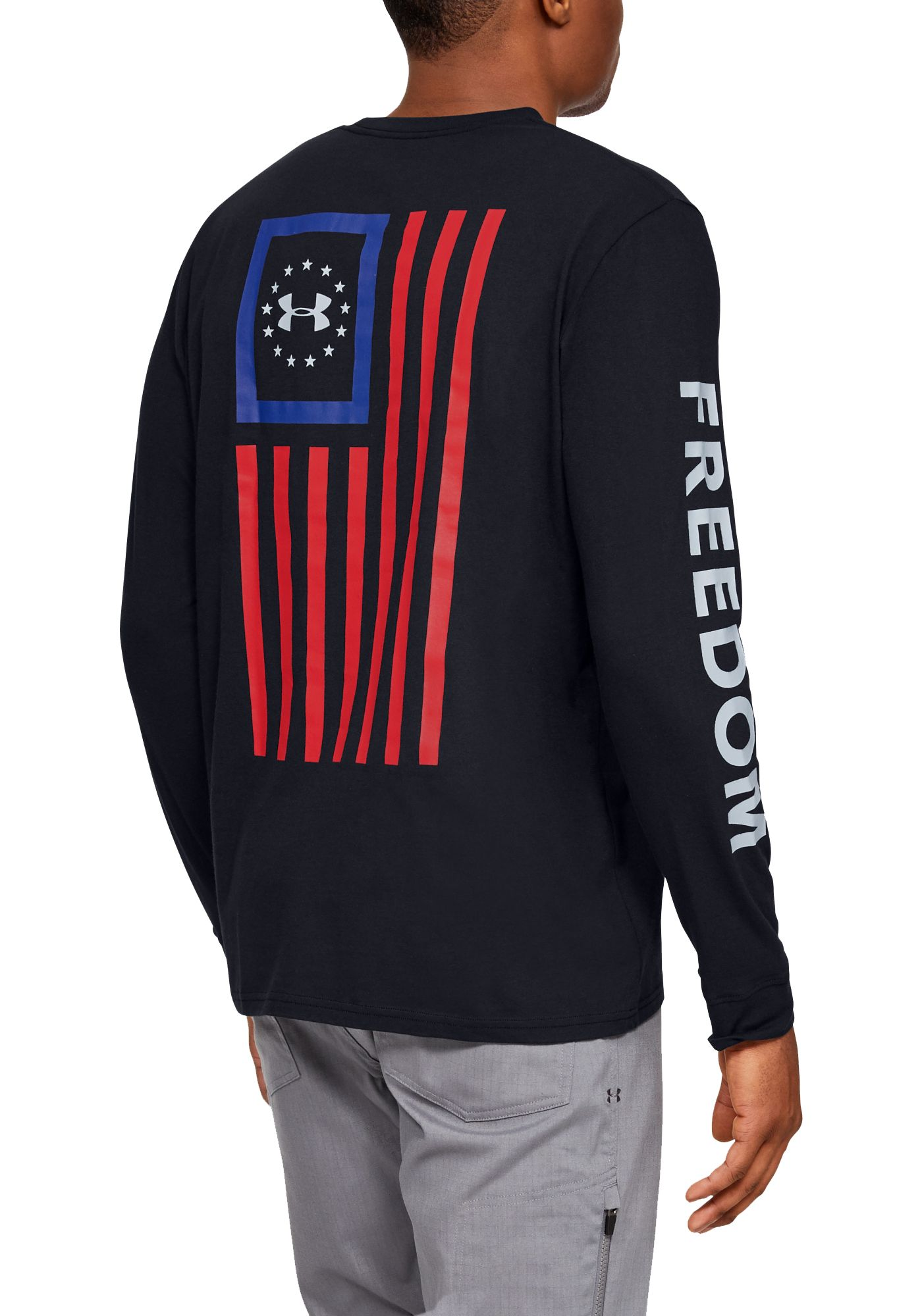 Under Armour Men's Freedom New Flag Long Sleeve T-Shirt