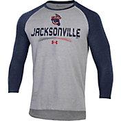 Under Armour Men's Jacksonville Jumbo Shrimp Navy Raglan Three-Quarter Sleeve T-Shirt