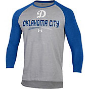 Under Armour Men's Oklahoma City Dodgers Royal Raglan Three-Quarter Sleeve T-Shirt