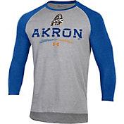 Under Armour Men's Akron Rubberducks Royal Raglan Three-Quarter Sleeve T-Shirt