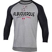Under Armour Men's Albuquerque Isotopes Black Raglan Three-Quarter Sleeve T-Shirt