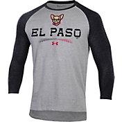 Under Armour Men's El Paso Chihuahuas Black Raglan Three-Quarter Sleeve T-Shirt