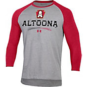 Under Armour Men's Altoona Curve Red Raglan Three-Quarter Sleeve T-Shirt