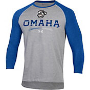 Under Armour Men's Omaha Storm Chasers Royal Raglan Three-Quarter Sleeve T-Shirt