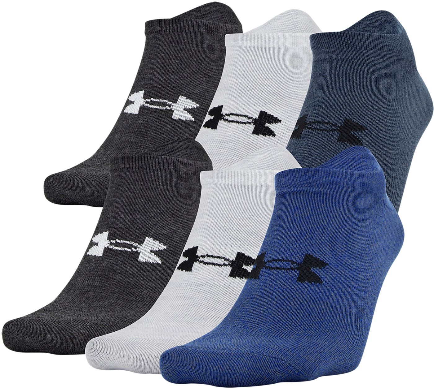 Under Armour Men's Essential Lite Low Cut Socks - 6 Pack